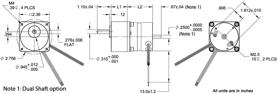 BLWSG23 Dimension (800x273) blwsg23 brushless dc motors with spur gearboxes  at fashall.co