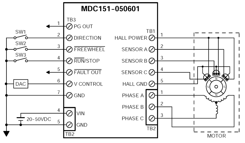 MDC151 050601 Wiring (800x466) mdc151 050601 brushless dc speed controllers ac drive wiring diagram at creativeand.co