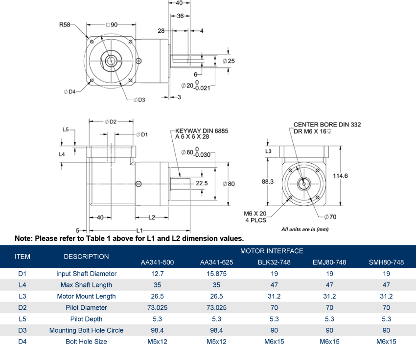 In-Line Planetary Gearboxes - GBPNR-080x-CS