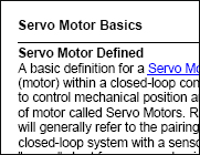 What is a Servo Motor?