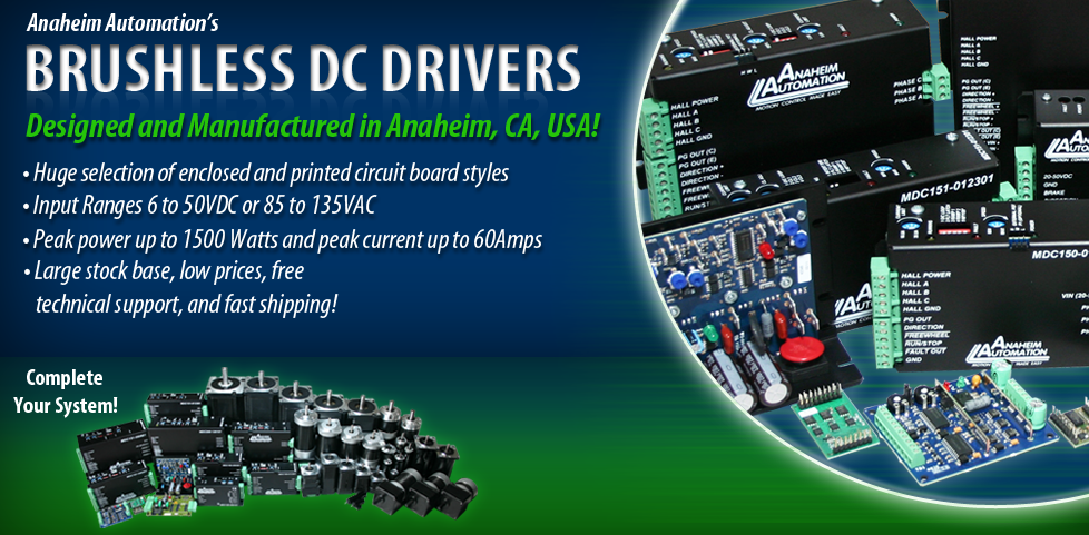 Anaheim Automation | Quality BLDC Drivers at Low Prices