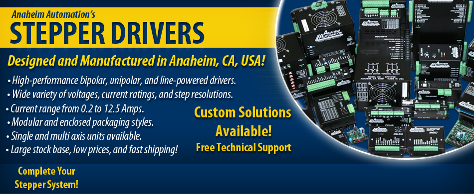 Stepper Drivers Custom Solutions Available