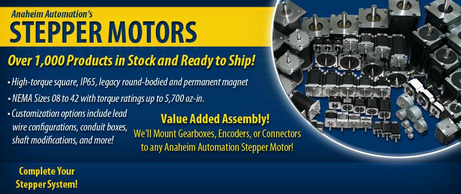 Stepper Motors | Largest Online Offering of Stepper Motors, Drives